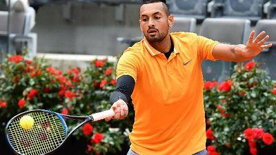 Tennis:Kyrgios lancia sedia,squalificato