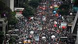 Des manifestants dans les rues de Sao Paulo, au Brésil, le 15 mai 2019
