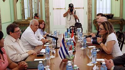 Cuba, Canada foreign ministers discuss resolving Venezuela crisis