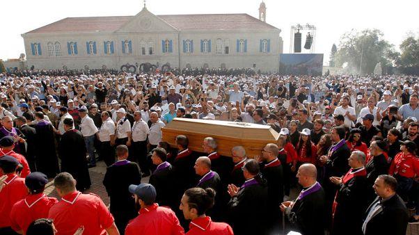 آلاف يحضرون جنازة البطريرك الماروني السابق نصر الله صفير في لبنان
