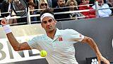 Roger Federer face au jeune Croate Borna Coric à Rome, le 16 mai 2019