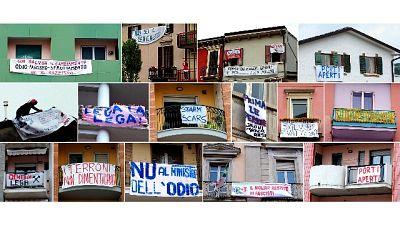 Striscione contro Salvini, indagata