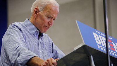 Biden holds U.S. election kick-off rally as Democratic rivals sharpen attacks