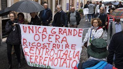 Terremoto: i comitati protestano a Roma