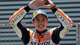 Motorcycling - Marquez braves wet conditions to take pole in France