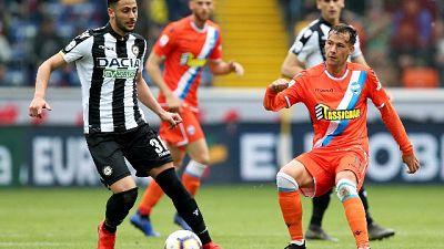 Calcio: Udinese-Spal 3-2