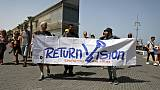 On Eurovision final day, Israelis cheer as Palestinians protest