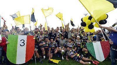 Rugby: Calvisano è campione d'Italia