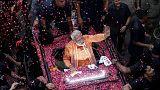 India's Modi set to sweep election, exit polls show