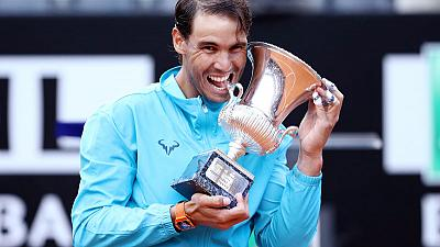 Imperious Nadal fends off Djokovic to land ninth Rome title