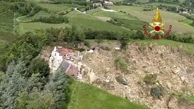 Frana nel Bolognese fa crollare una casa
