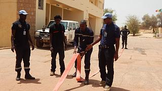 Tombouctou : la MINUSMA forme les agents de la Protection Civile sur la gestion des incendies et de sauvetages