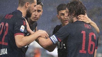 Lazio-Bologna 3-3, rossoblù salvi
