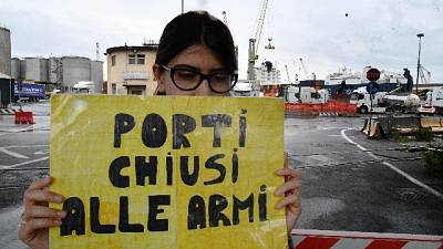 Cargo delle armi ha lasciato Genova
