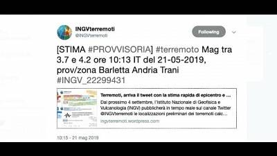 Terremoti: scossa 3.9 in Puglia
