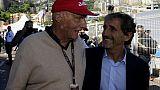 """Avec Niki Lauda, """"la F1 perd un seigneur"""", dit Alain Prost à l'AFP"""