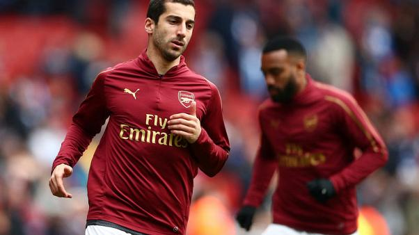 Arsenal's Mkhitaryan to miss Europa League final due to security concerns