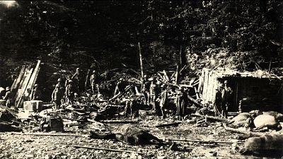 Pista cross su cimitero Grande Guerra