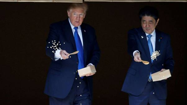Japan woos Trump with pomp and circumstance, looks to avoid trade battle
