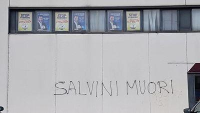 Fedriga, scritte contro Salvini