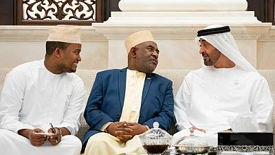 His Highness Sheikh Mohamed bin Zazyed receives President of Comoros