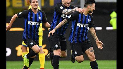 Curva sprona Inter per gara con Empoli