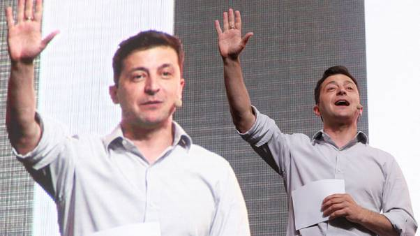 Jokes, a robot dog and salty language at new Ukraine leader's tech event