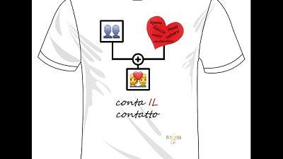 Parole per curare,ecco T-shirt educative