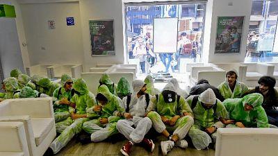 Irruzione Green block in uffici Enel