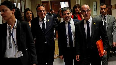 Spanish parliament suspends jailed Catalan leaders' rights as lawmakers