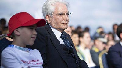 Presidente Mattarella a Piazza Siena