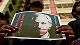 Une photo de Julian Assange, fondateur du site WikiLeaks