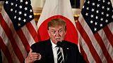"""Trump demande au Japon un commerce """"plus juste"""" au début d'une visite d'Etat"""