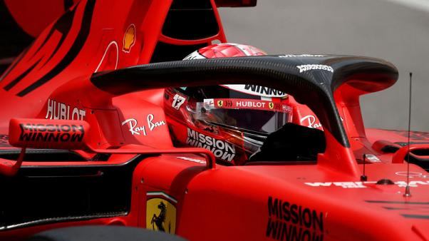 Motor racing - Leclerc fastest as Vettel hits the wall