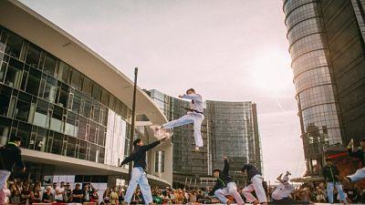 Taekwondo, l'esibizione a Milano