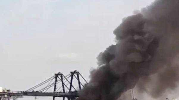 Chemical cargo catches fire in Thai port, three piers closed