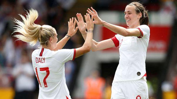 Soccer - England women beat Denmark 2-0 in World Cup warm-up