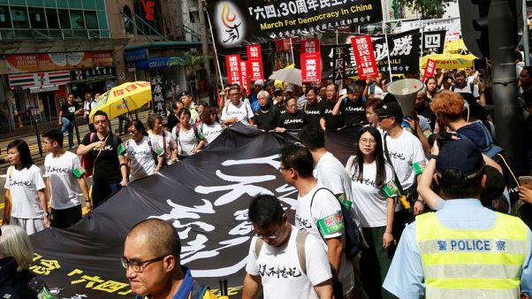 Hong Kong protestors demand China be held to account for 1989 Tiananmen crackdown