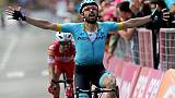 Tour d'Italie: Cataldo vainqueur de la 15e étape, Carapaz toujours leader