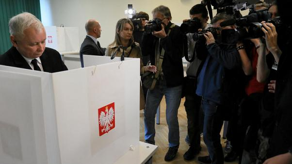 Polish nationalists win EU vote, set stage for national ballot - exit poll