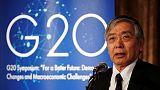 BOJ's Kuroda sounds alarm on global economy ahead of G20
