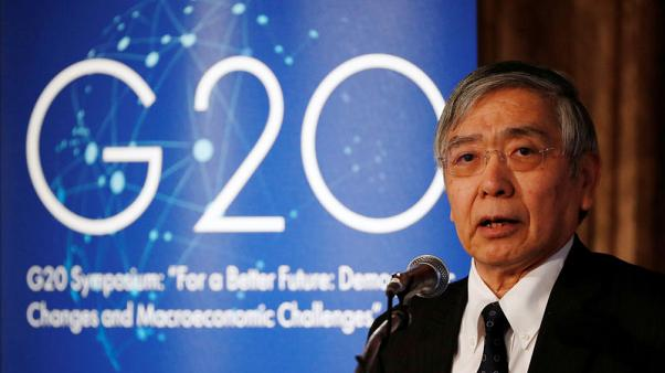 BOJ's Kuroda sounds alarm on global economy ahead of G20