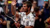 Roland-Garros: Corentin Moutet au deuxième tour
