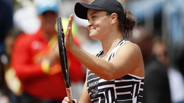 Tennis - Black and white's all right for stylish Barty