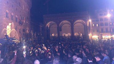 Festa in piazza Signoria per Nardella