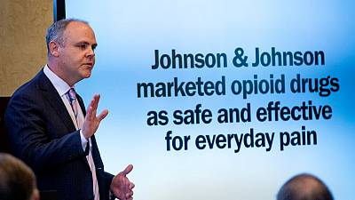 Johnson & Johnson's greed helped fuel U.S. opioid crisis, Oklahoma claims at trial