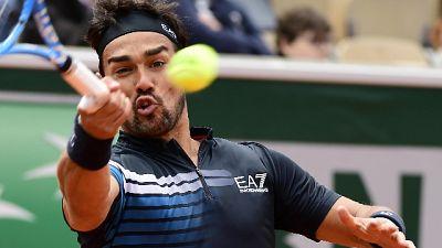 Tennis: Fognini batte Seppi a Parigi