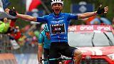 Tour d'Italie: Ciccone vainqueur, Carapaz toujours leader