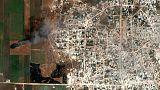صور الأقمار الصناعية تظهر حرائق في حقول بشمال غرب سوريا