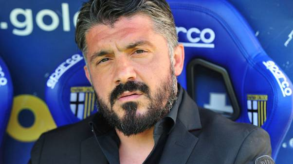 AC Milan coach Gattuso leaves after missing Champions League